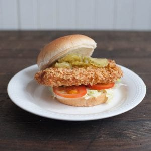 Hoosier Pork Tenderloin Sandwich
