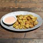 Fried Pickle Chips with Comeback Sauce